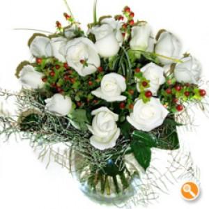 Jarra de rosas - Branca de Neve